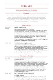 Head Of School Resume Samples Visualcv Resume Samples Database