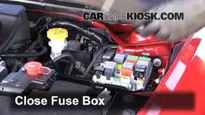 replace a fuse dodge dart dodge dart sxt l cyl 6 replace cover secure the cover and test component
