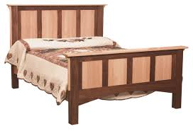 Natural Maple Bedroom Furniture This Is Our Two Tone Bed Shown In A Natural Maple And Walnut Frame