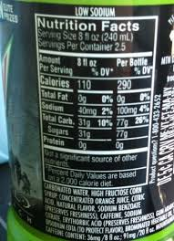 monster can nutrition facts. Perfect Nutrition Mt Dew 1 With Monster Can Nutrition Facts