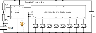 random led flasher rookie electronics electronics robotics circuit diagram