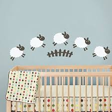 sheep wall decal baby room wall sticker nursery wall decor play room wall decal wall mural on baby room wall decor stickers with amazon sheep wall decal baby room wall sticker nursery wall