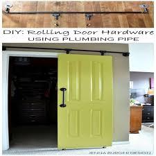 sliding door hardware hb 690 privacy lock halliday baillie diy rolling door hardware using plumbing pipe get the look function of a rolling door for
