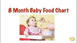 Baby Boy Diet Chart 8 Month Baby Food Chart Meal Plan For 8 Month Old Baby