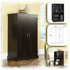 home office armoire. Computer Armoire Desk Cabinet Sauder Wood Hutch Credenza WorkStation Home Office T