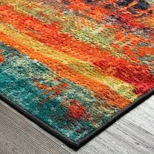 orange area rugs and rug burnt living room red brown