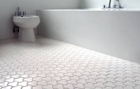 Wonderful White Tile Bathroom Floor Desigining Home Interior For Beautiful Design