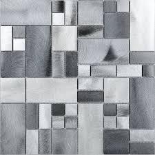 metal floor tiles. Perfect Metal Metal Metallic Gray Aluminum Mosaic Kitchen Backsplash Tile  To Floor Tiles