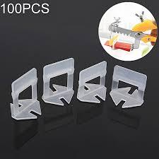 100 pcs 1 5mm lengthen tile leveling system clips kit wall floor tile spacer tiling tool
