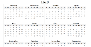 Yearly Calendar 2018 Template Expin Franklinfire Co
