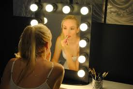 ideas for making your own lighted vanity mirror unit