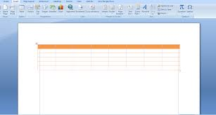 steps to create table in microsoft word 2007