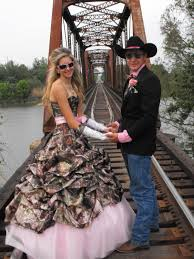 Pink Camo Wedding Dresses And Tux