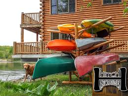 6 place kayak rack in use