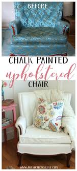 fabric paint for furnitureThrifty French Chair Makeover Annie Sloan Chalk Paint  Artsy