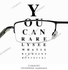 Blurry Eye Test Chart Snellen Eye Chart And Glasses Stock Photos And Images Age