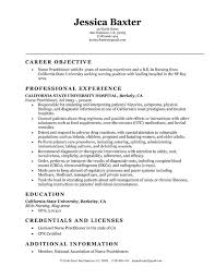 Sample Of Rn Resumes 26 Best Of Registered Nurse Resume Examples Of Objectives