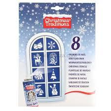 8er Set Sprühschablonen Weihnachten