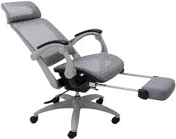 reclining office chairs. Elastic All-Mesh Reclining Office Chair W/Adjustable Sliding Seat Depth \u0026 Footrest Chairs -