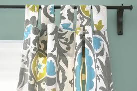 diy tab top curtains tab top curtain open