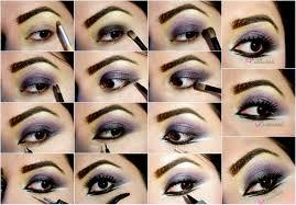 makeup ideas with smokey eyes picture tutorial soft smokey purple eye makeup
