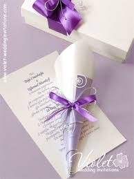 Scroll Wedding Invite