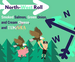 facebook cover round eye sushi guy northwest roll special