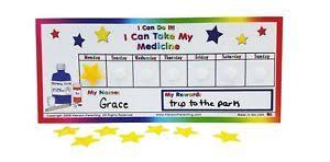 Details About Medicine Reward Incentive Chart Toddler Child Preschool