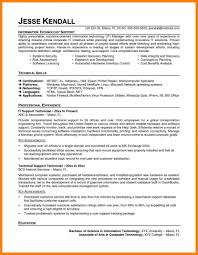 Best Technical Support Resume Example Livecareer It Objective