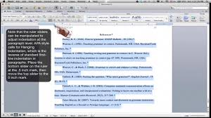 Formatting An Apa Style References Page Ms Word For Mac 2011