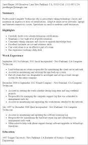 resume templates computer technician computer technician sample resume