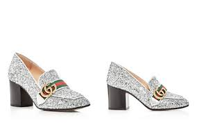gucci shoes lion. gucci peyton glitter block heel loafers - bloomingdale\u0027s_2 shoes lion