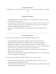 Free Executive Administrative Assistant Resume Template Sample