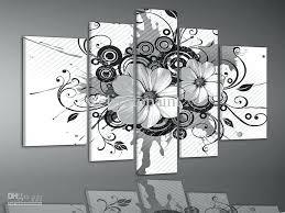 cheap black and white wall art