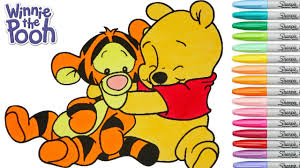 baby tigger and pooh. Fine And Disney Coloring Book Winnie The Pooh Baby Tigger Colouring Pages Rainbow  Splash  YouTube In And S