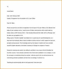 2 week notice format loan officer resignation two weeks notice letter doc format