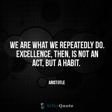 Aristotle Excellence Quote Best Aristotle Quotes We Are What We Repeatedly Do Excellence Then