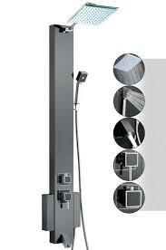 akdy shower panel installation guide tower unit black s