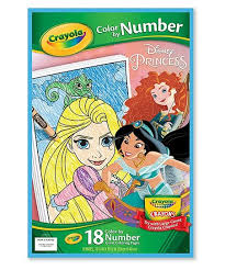 Crayola Disney Princess Color By Number Giant Coloring Pages Zulily