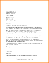 7 Block Business Letter Format References Format