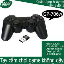 Tay cầm chơi game không dây cho PC/ Laptop/ PS3/ Android box/ Android tivi  có rung - G706wd