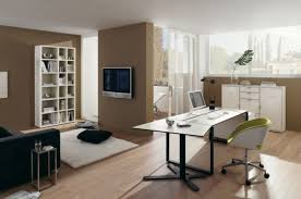 trendy home office design. Modern Home Office Design Minimalist Light Wood Floor Photo In San Francisco With Gray Trendy