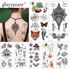 Glaryyears 1 шт временные татуировки стикеры красивые поддельные