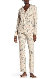 Munki Munki Signature Floral Print Pajama 2 Piece Set Nordstrom Rack