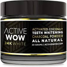 Active Wow Teeth Whitening <b>Natural Activated Coconut Charcoal</b> ...