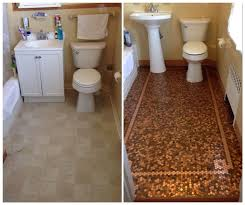 penny floor diy penny tile floor mosaic before and after