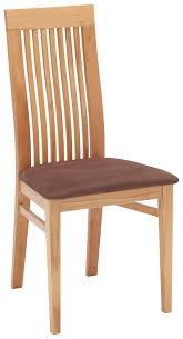 Stuhl In Holz Textil Braun Buchefarben