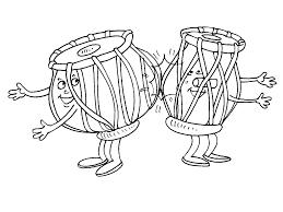 Instruments De Musique 124 Objets Coloriages Imprimer