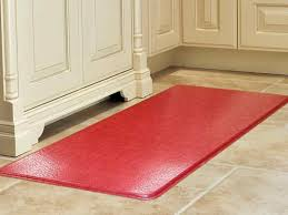 kitchen floor runner mats washable runners rugs unique red