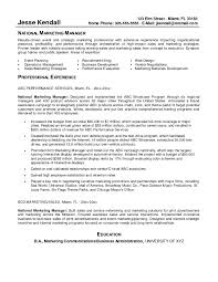 Resume Samples For Sales And Marketing Manager New Marketing Manager